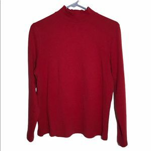 Croft & Barrow Turtleneck Red Women's Medium